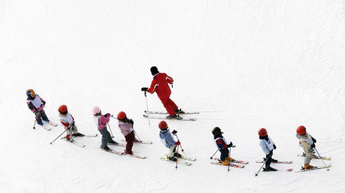 Børn på skiskole
